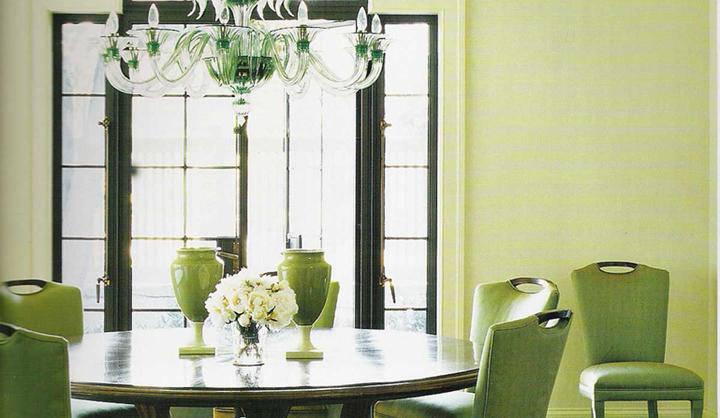Decorar un comedor de color verde for Comedor 2 colores
