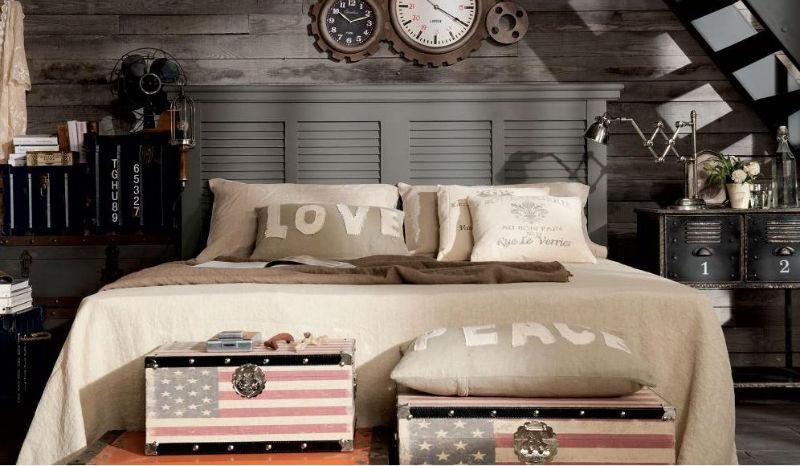 Dormitorio industrial18 for Habitaciones para ninas estilo vintage