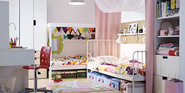 Cómo decorar un dormitorio compartido por un niño y una niña