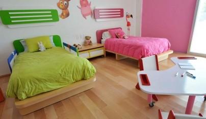 C mo decorar un dormitorio compartido por un ni o y una ni a - Decorar habitaciones de ninos ...