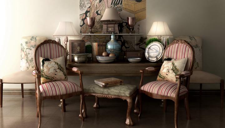 ideas para decorar un salon vintage