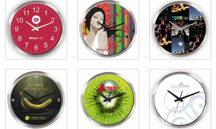 Relojes de pared personalizados for Pared de 15 ladrillo comun