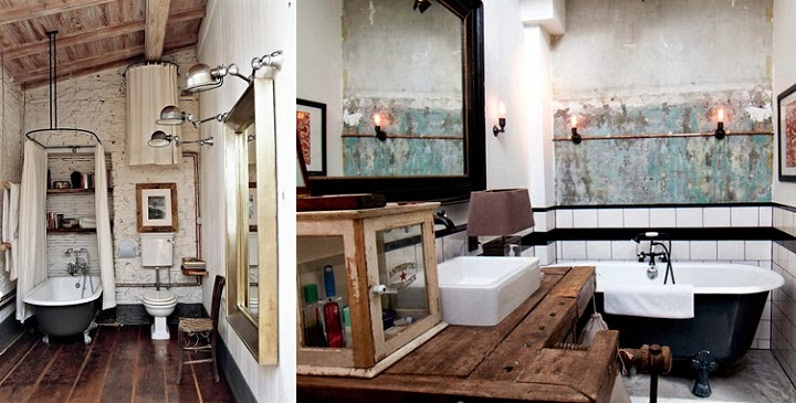 Fotos de ba os de estilo industrial - Cuartos de bano con estilo ...