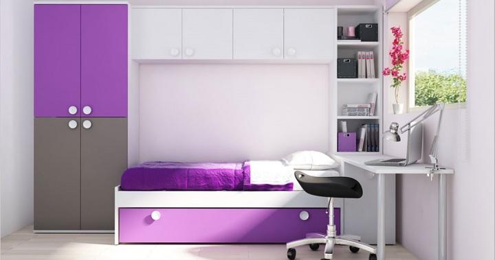 Dormitorios juveniles con cama puente for Conforama muebles juveniles