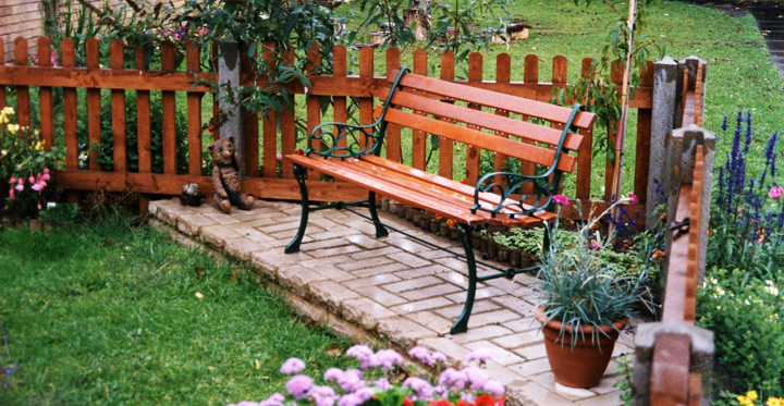 decorar un jardin pequeno