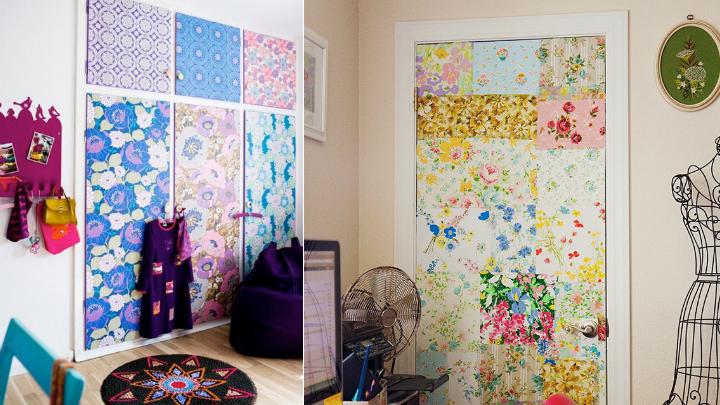 Ideas para decorar puertas - Como forrar las puertas de un armario ...