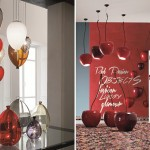 Lámparas con forma de globo y cereza