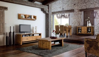 Decorablog revista de decoraci n - Fotos de salones rusticos ...