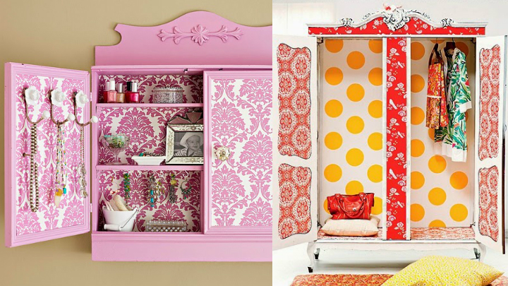Decoraci n con armarios empapelados - Papel adhesivo decorativo muebles ...