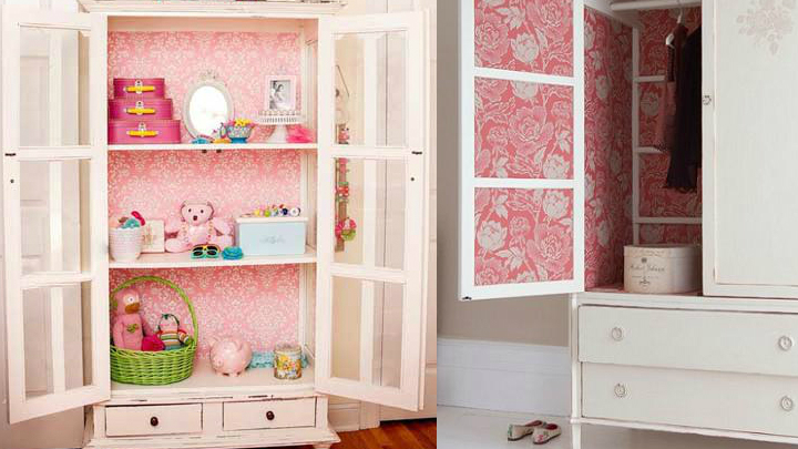 Decoraci n con armarios empapelados for Papel pintado para puertas de armario