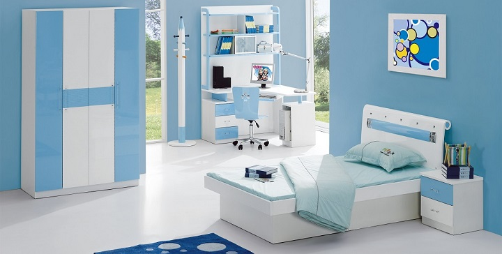 fotos de dormitorios de color azul. Black Bedroom Furniture Sets. Home Design Ideas