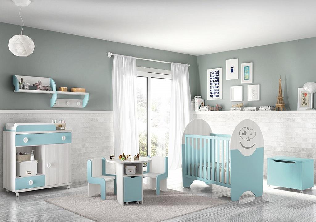 Dormitorio azul25 - Pintura para habitacion de bebe ...