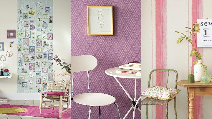 casa en constructor azulejos que imitan piedra papel pintado