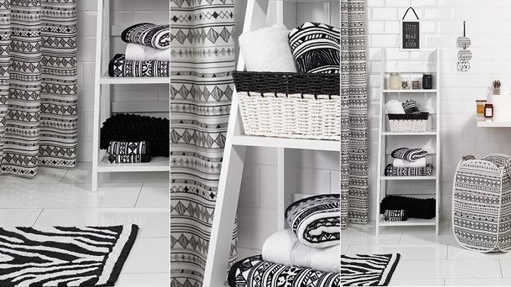 Primark hogar decoraci n en blanco y negro tribal - Cortinas ducha primark ...