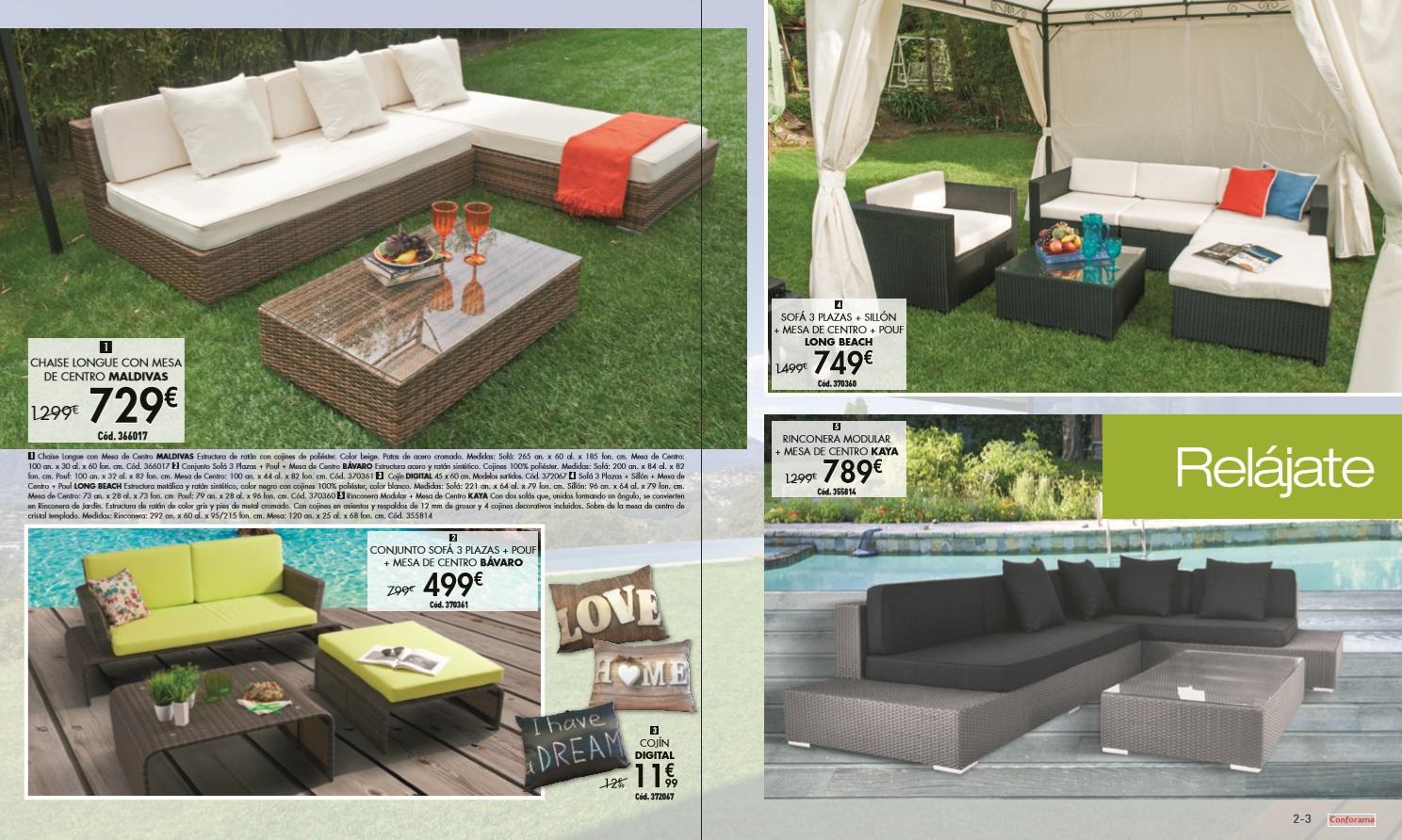 Conforama jardin 20152 for Conforama muebles de jardin