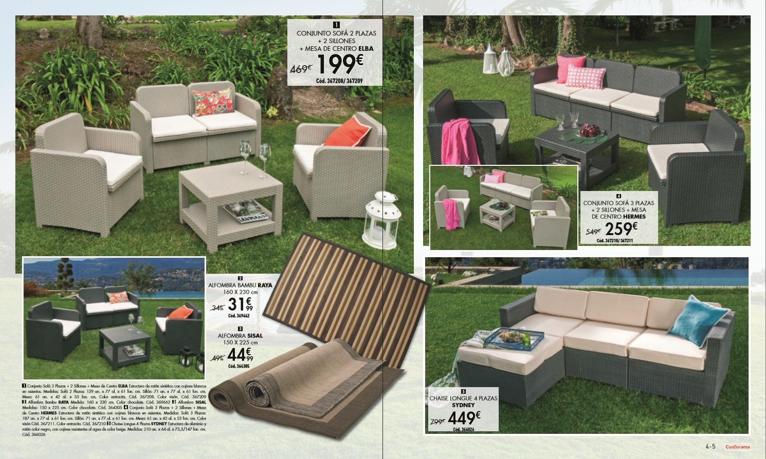 Conforama jardin 20153 for Conforama muebles de jardin