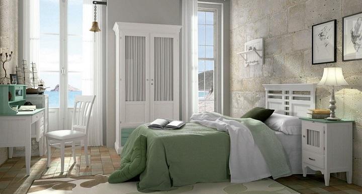 Dormitorio verde foto