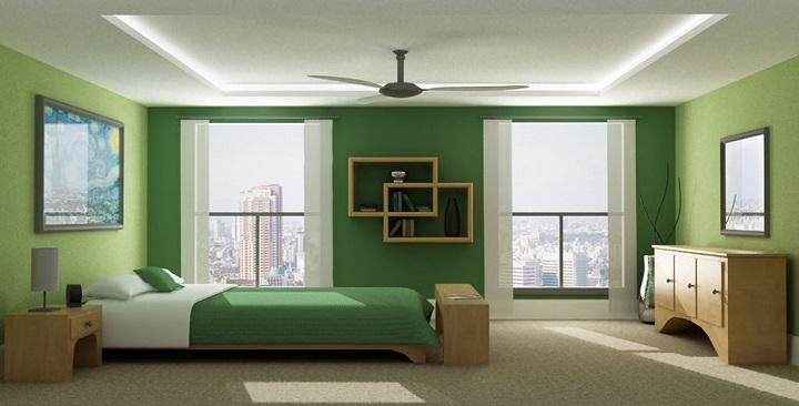 Dormitorio verde foto4