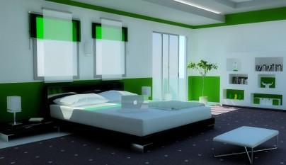 Dormitorio verde14