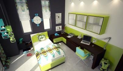 Dormitorio verde18