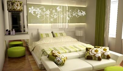 Dormitorio verde7
