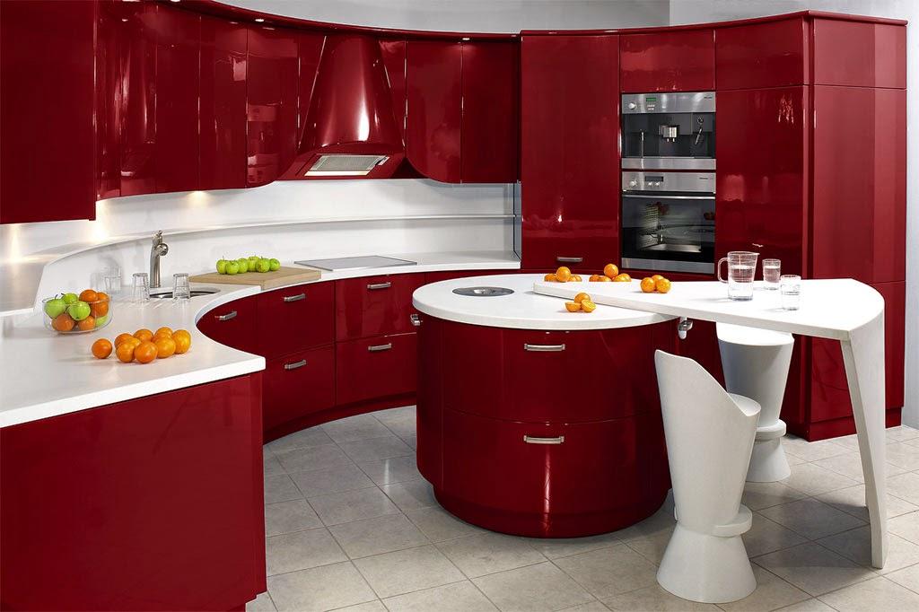 Cocinas de colores vivos