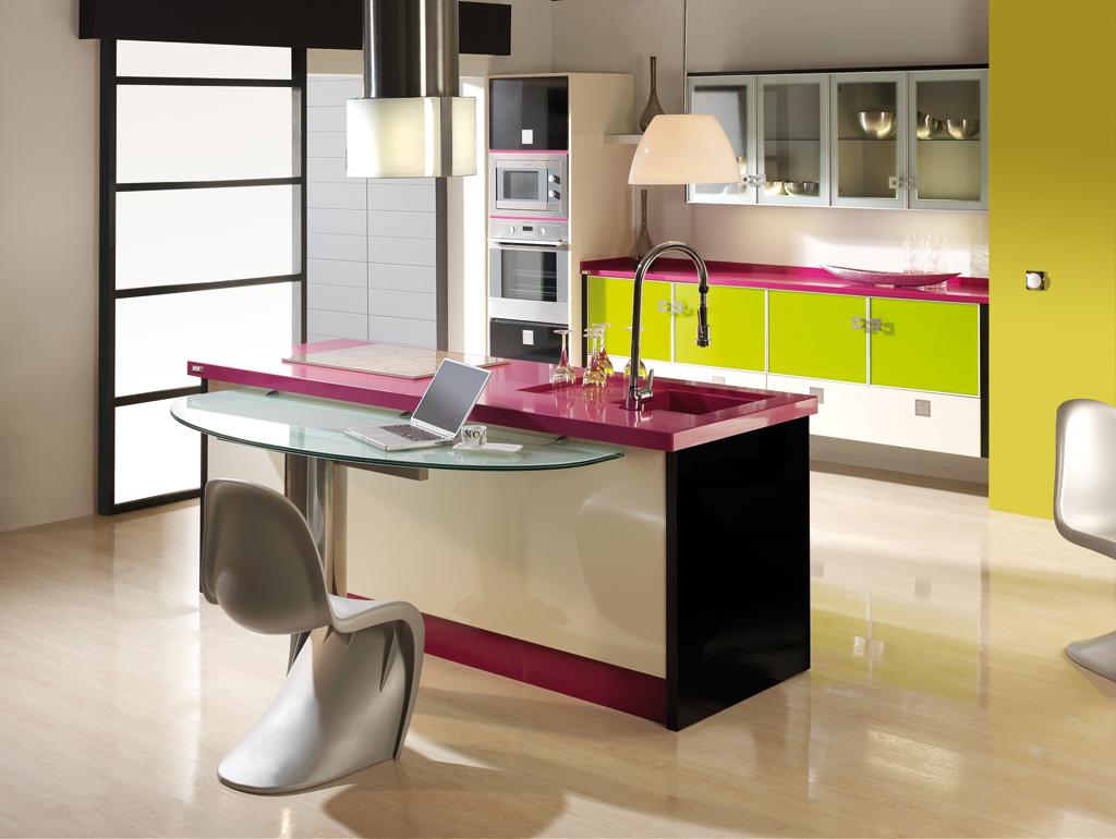 Cocinas colores21 for Mesas de cocina merkamueble