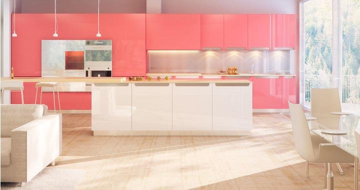 Cocinas colores40 - Cocinas de color rosa ...