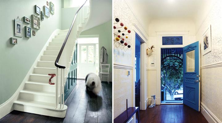 Consejos para iluminar un pasillo largo - Colores para pintar un pasillo ...