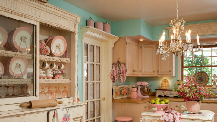 Cómo decorar una cocina con estilo shabby chic