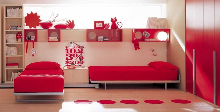 Fotos de dormitorios de color rojo - Que colores pegan ...