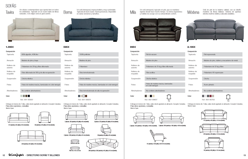 El corte ingles sofas y sillones7 for Sofas rinconeras el corte ingles