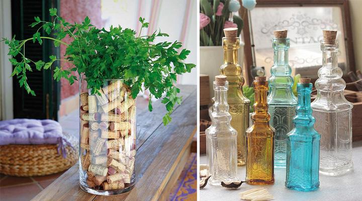 Ideas para decorar con envases de cristal - Portavelas grandes ...