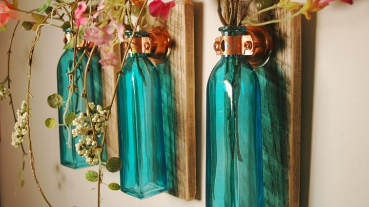 ideas para decorar con envases de cristal