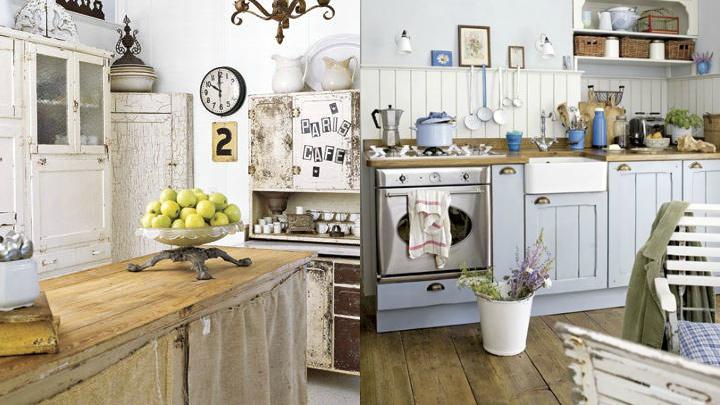 C mo decorar una cocina con estilo shabby chic - Cocinas estilo shabby chic ...