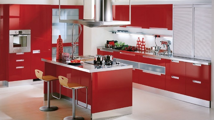 Cocina roja foto