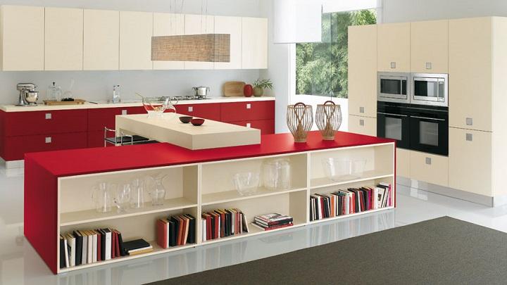 Cocina roja foto1