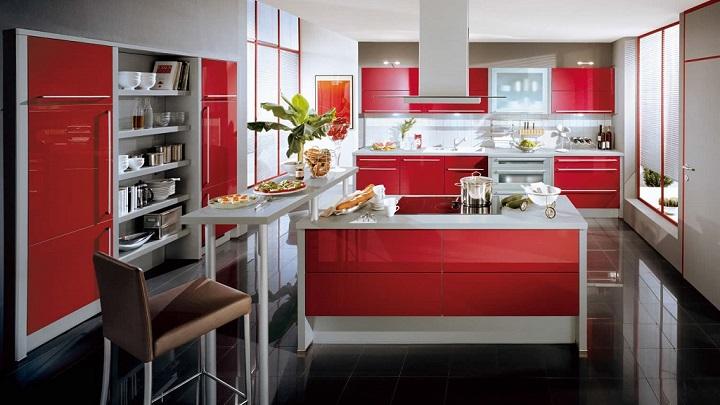 Cocina roja foto2