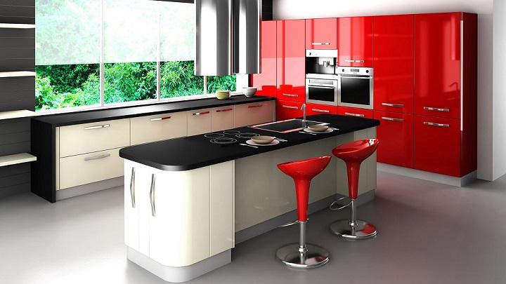 Cocina roja foto3