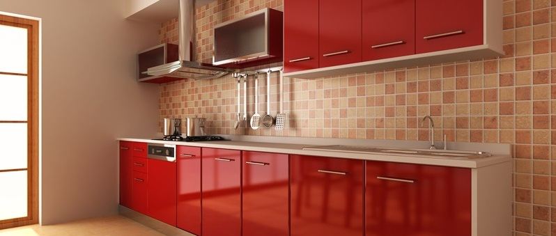 Cocina roja13 - Cocinas de color rojo ...