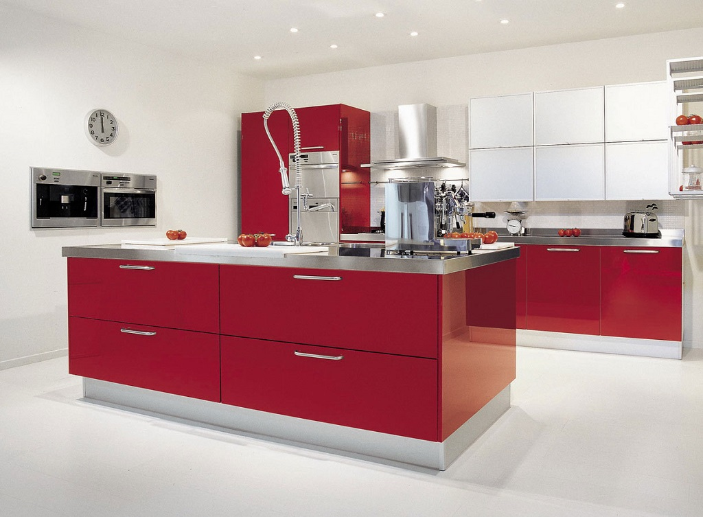Cocina roja18 - Cocinas de color rojo ...