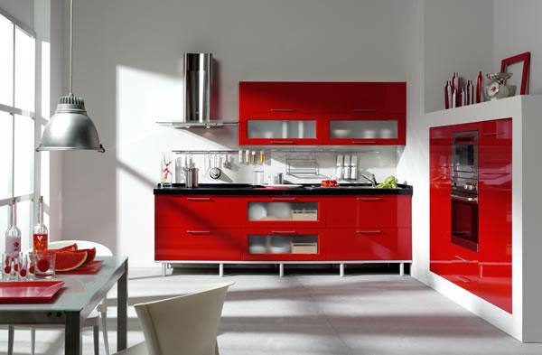 Fotos de cocinas de color rojo - Cocinas de color rojo ...