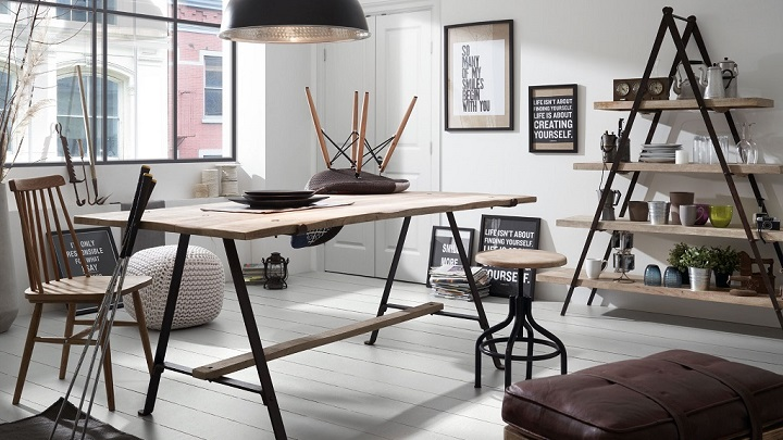 Comedores de estilo industrial for Como hacer una mesa estilo industrial