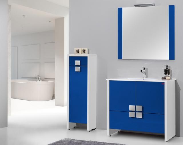 Bano azul blanco12 - Banos en azul y blanco ...