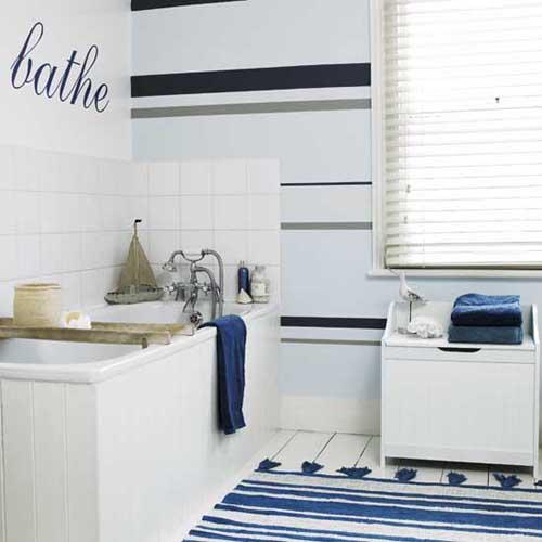 Bano azul blanco16 - Banos en azul y blanco ...