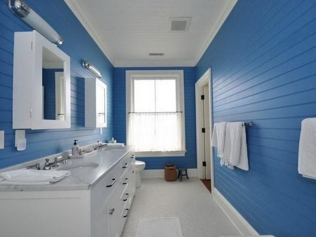 Bano azul blanco19 - Banos en azul y blanco ...