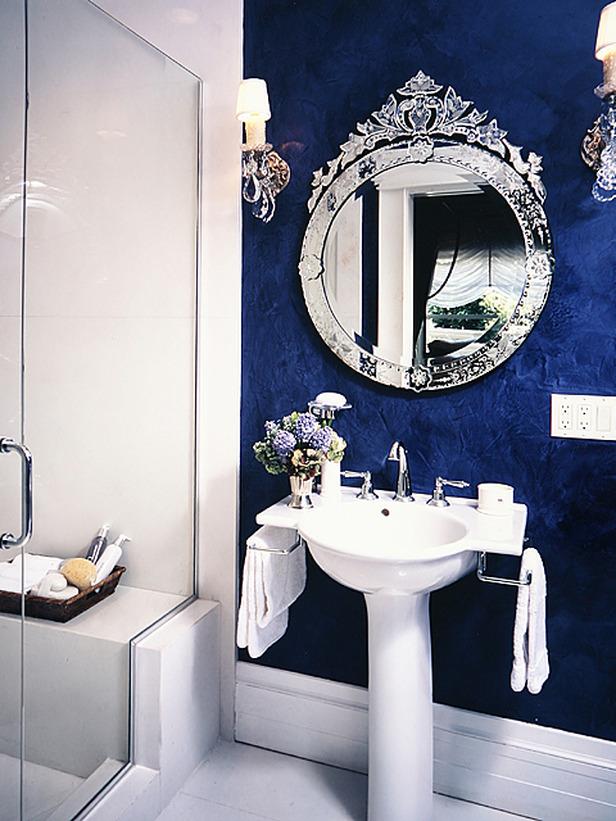 Bano azul blanco24 - Banos en azul y blanco ...