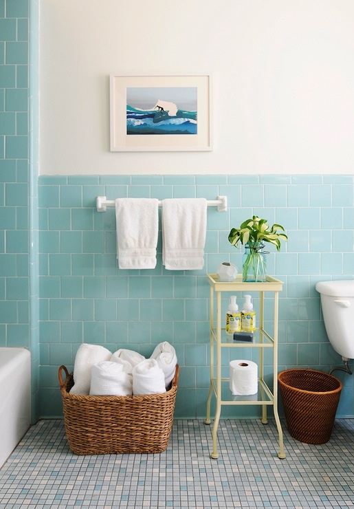 Decorar Un Baño Azul:Blue and White Bathroom Tiles Ideas