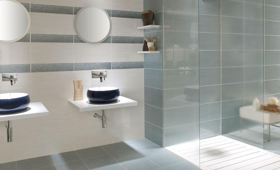 Baño Azul Con Blanco:bano azul blanco3
