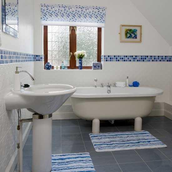 Bano azul blanco31 - Banos en azul y blanco ...